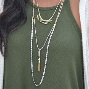 BNIB Stella & Dot Riad Layering Necklace